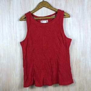 🎃Anthropologie Postmark Red Textured Tank Large
